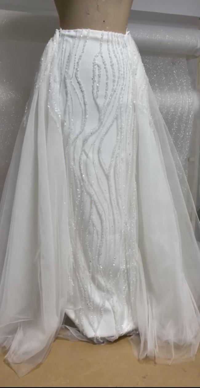Naama & Anat Custom Made Detachable Overskirt and Matching Veil