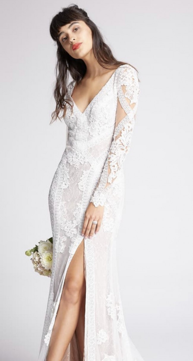 Willowby Foxglove Long Sleeve Lace Wedding Dress