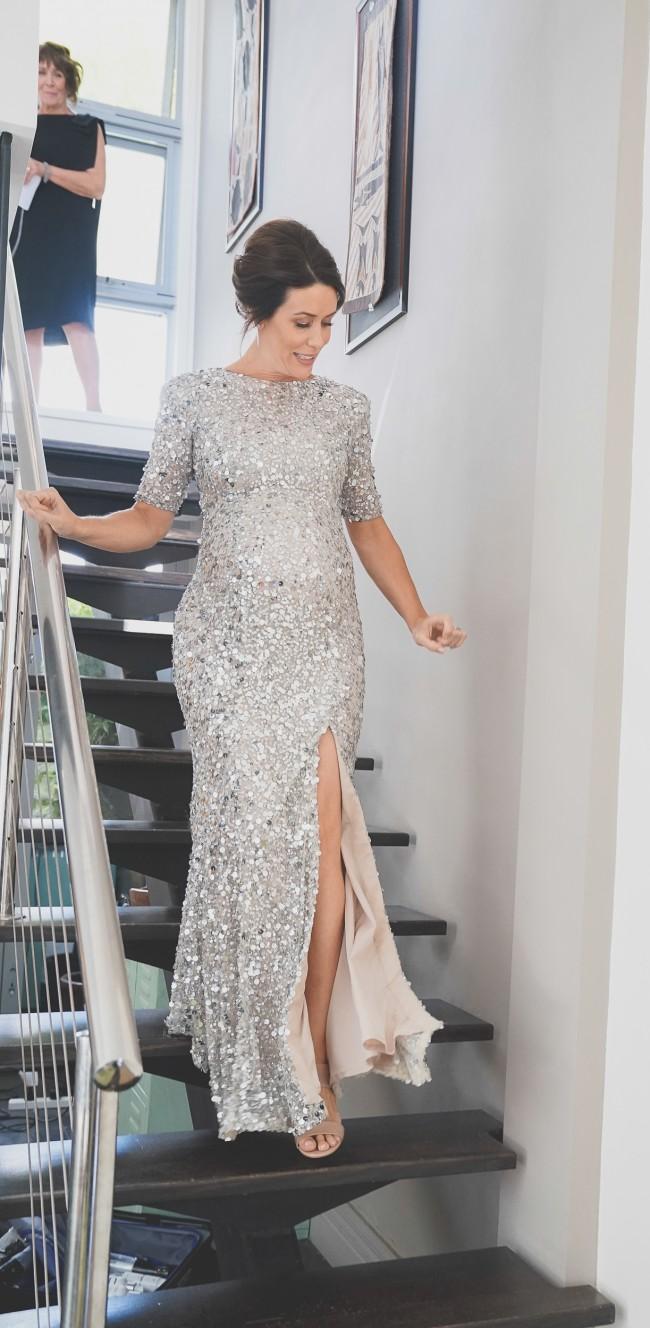 Rachel Gilbert Zowie Sequin Full length gown