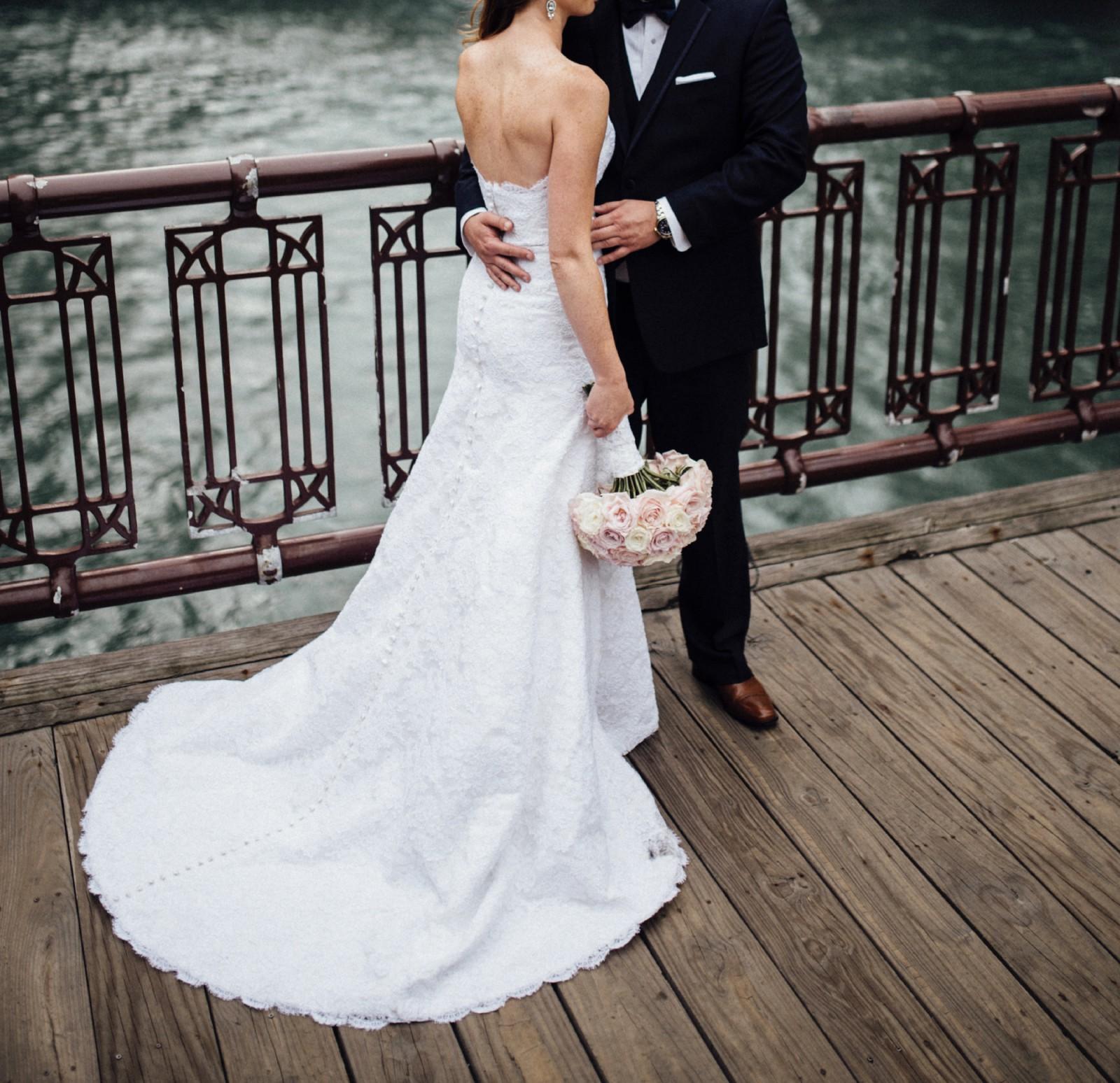 White Wedding Dress Victoria: Victoria Sdoukos Custom Made Second Hand Wedding Dress On