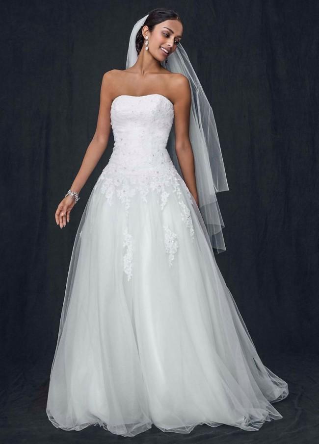 David's Bridal WG3316 White