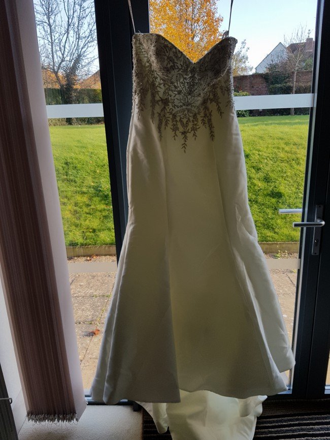 Maggie Sottero, Layton with ivory/pewter accents