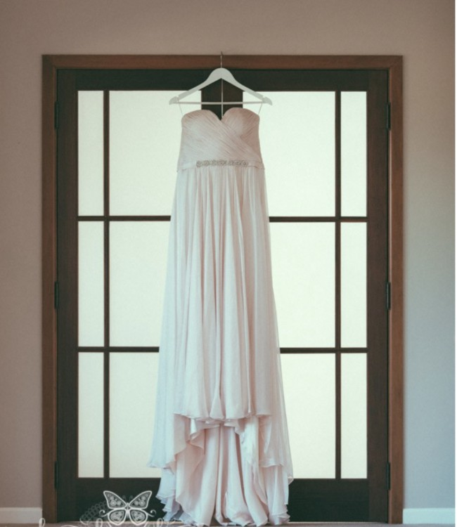 Lisa Gowing Eve Gown with Veil - Blush Pink
