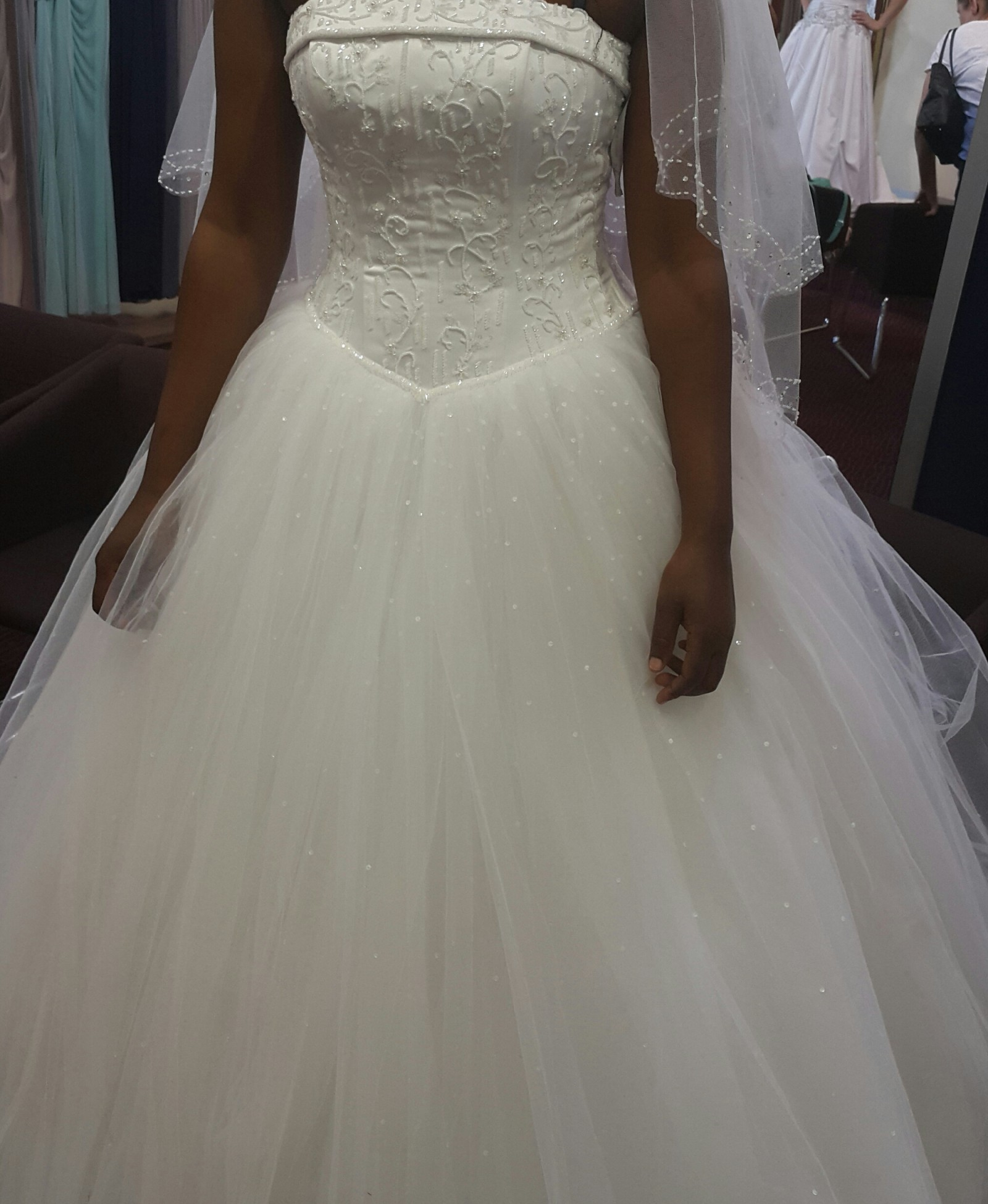 Wedding Dresses For Over 50 Uk: Bride & Co Satin Cuffed Bodice And Full Tulle Skirt Second