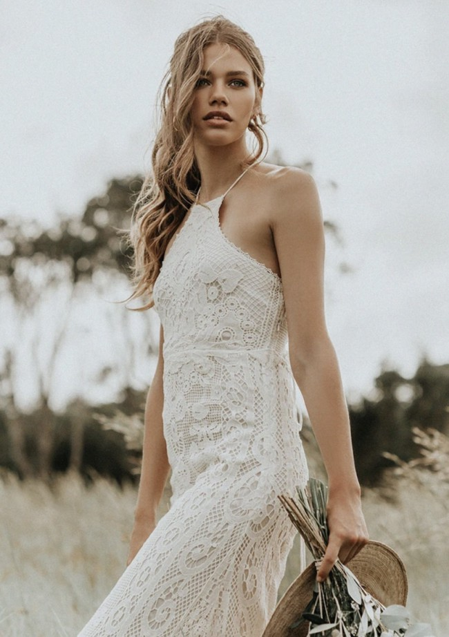 Spell & The Gypsy Collective CASABLANCA LACE HALTER GOWN