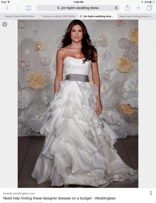 Jim Heljm Wedding Dresses.Jim Hjelm 8962 Size 8