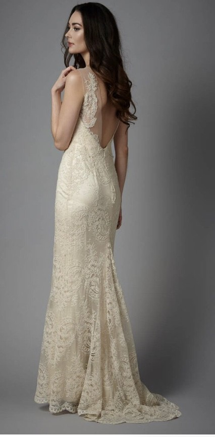 Catherine Deane Yasmin dress, matching veil available