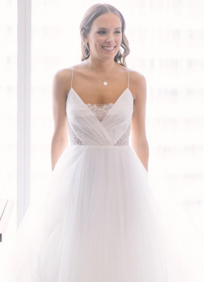9e09cfa94a7 Christos Penny Preowned Wedding Dress on Sale 60% Off - Stillwhite ...