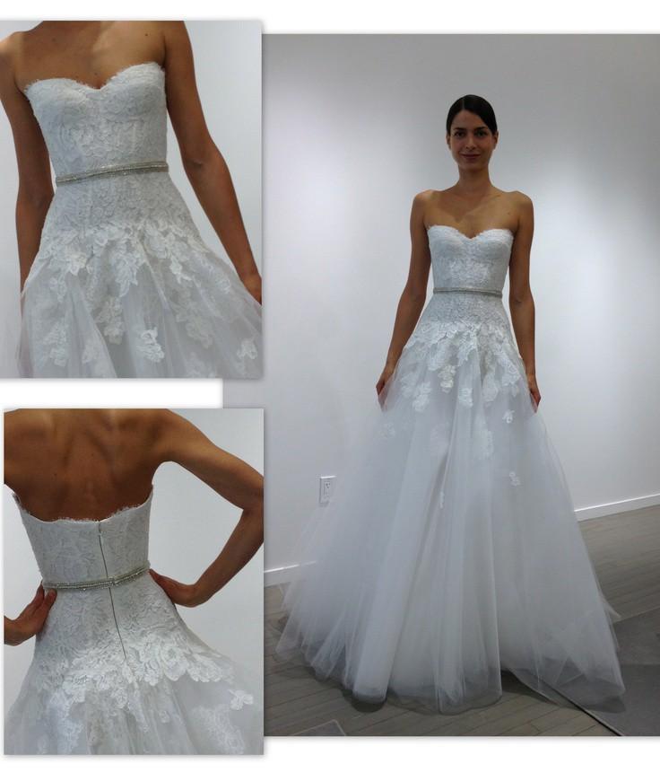 Monique Lhuillier Jade Dress + Tulle Belt Used Wedding
