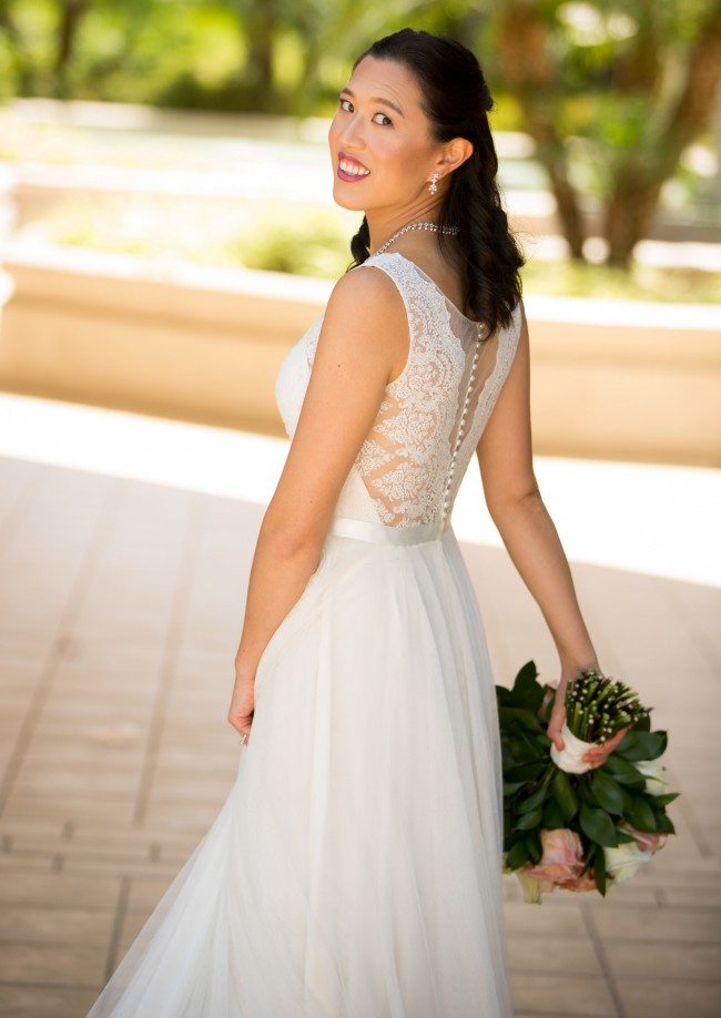 Watters, Santina Lace A-line Gown