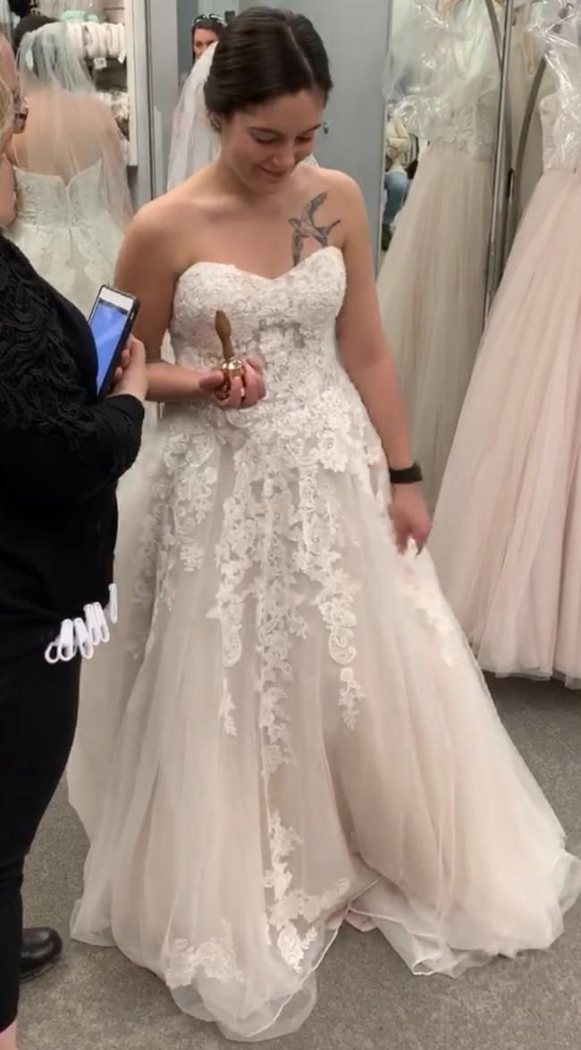 David's Bridal WG3861