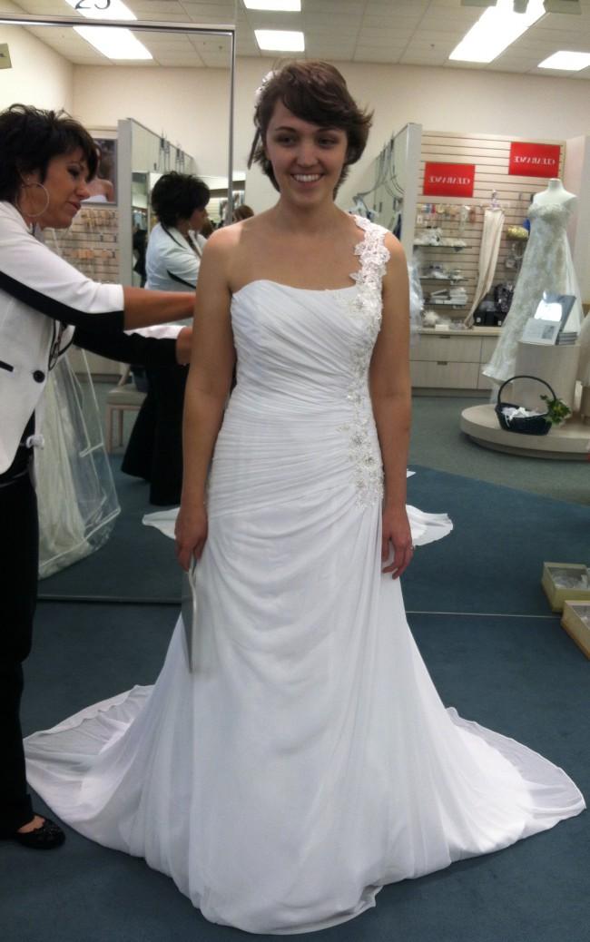 0e4731a0757 David s Bridal V3398 Used Wedding Dress on Sale 64% Off - Stillwhite