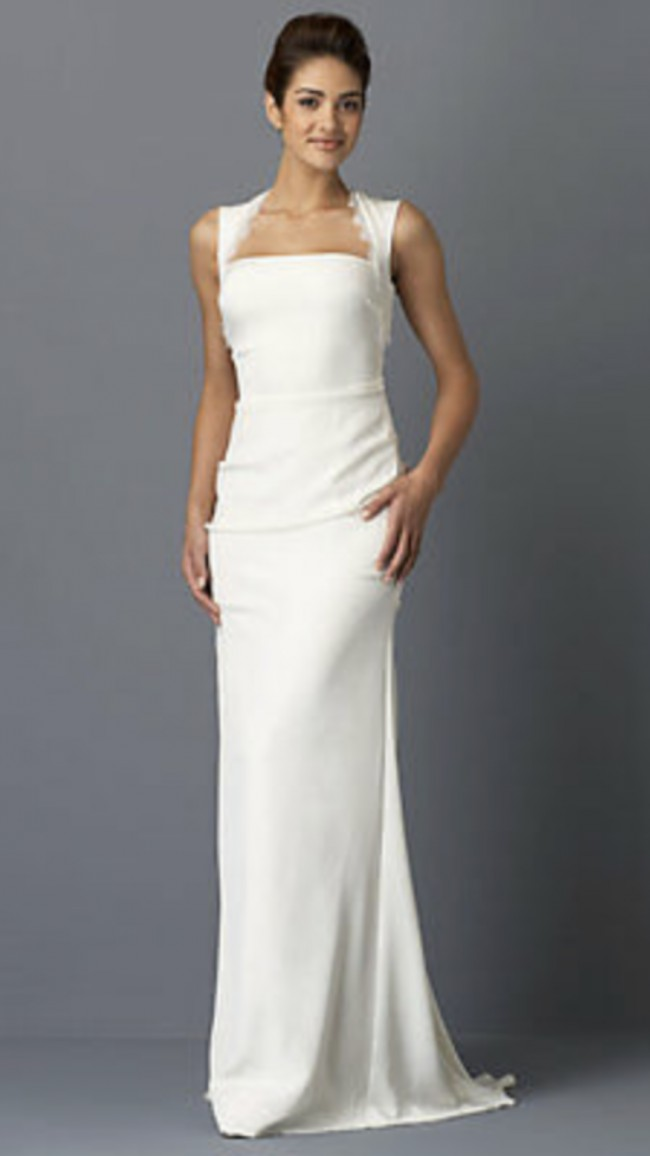 Nicole Miller, Open back sleeveless wedding gown