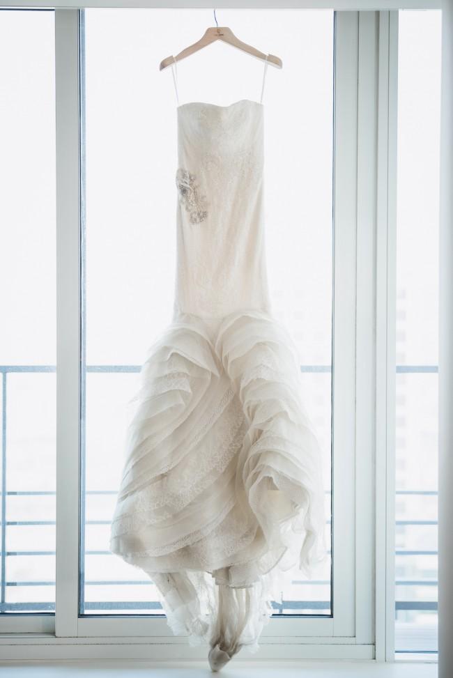 Vera Wang Lindsey Strapless Mermaid Gown