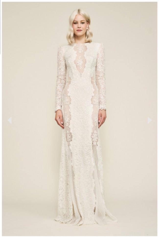 Tadashi Shoji Hotah Long-Sleeve Embroidered Gown
