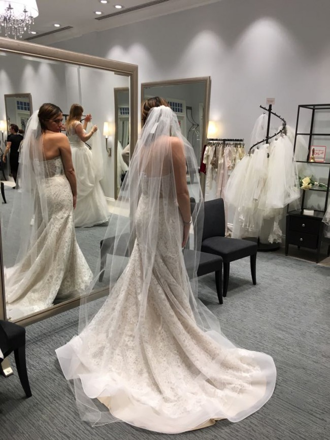 White Trumpet Wedding Dress