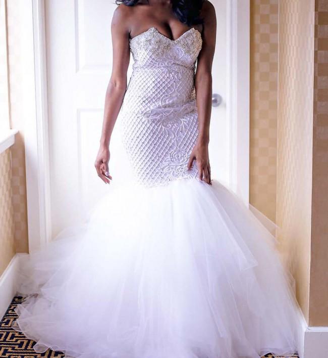 Jean-Ralph Thurin, Custom Made Mermaid Style Wedding Dress