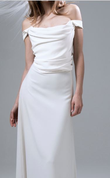 Kate Halfpenny Andrea A-line Skirt with Godet Train