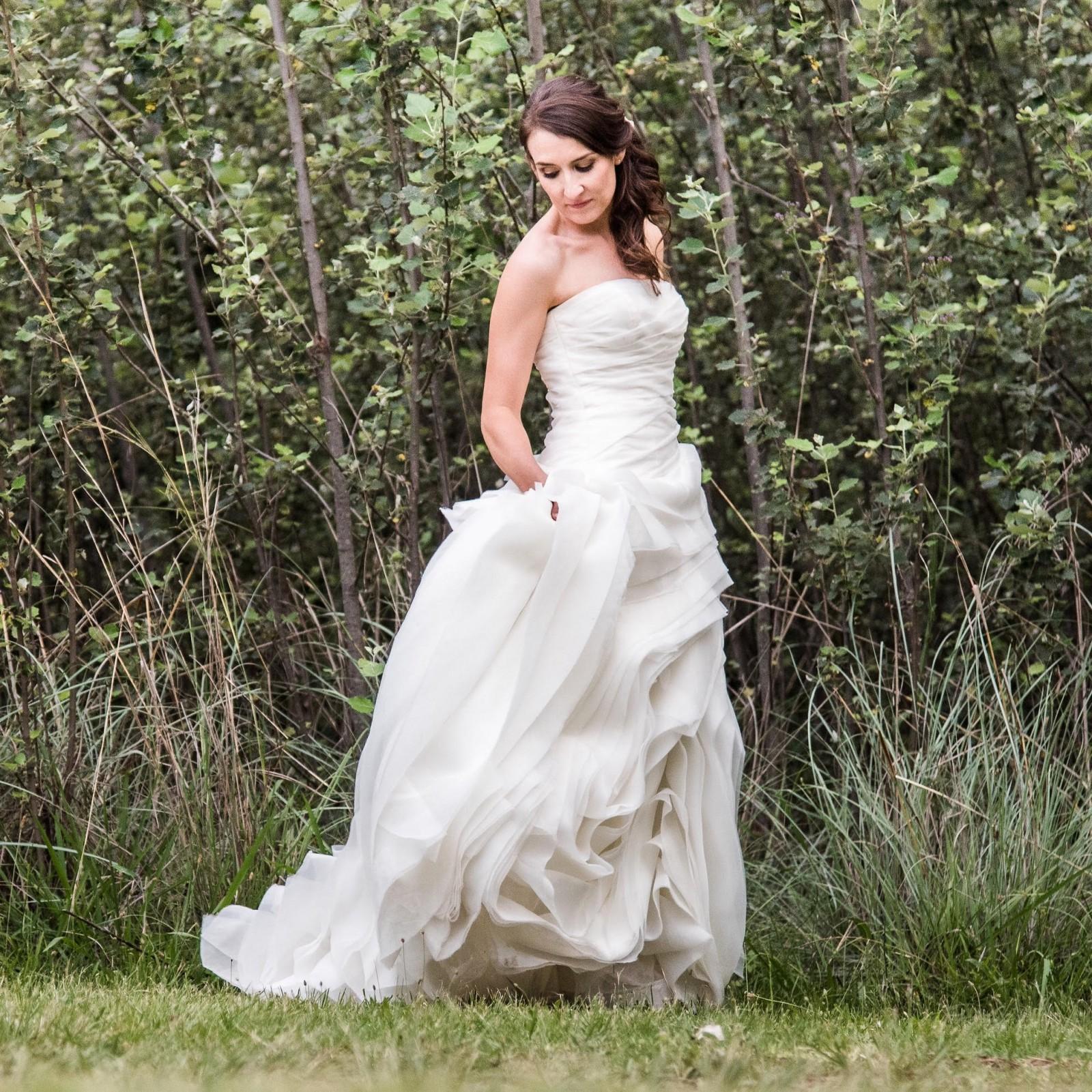 Vera Wang Organza Trumpet Wedding Dress Preowned Wedding