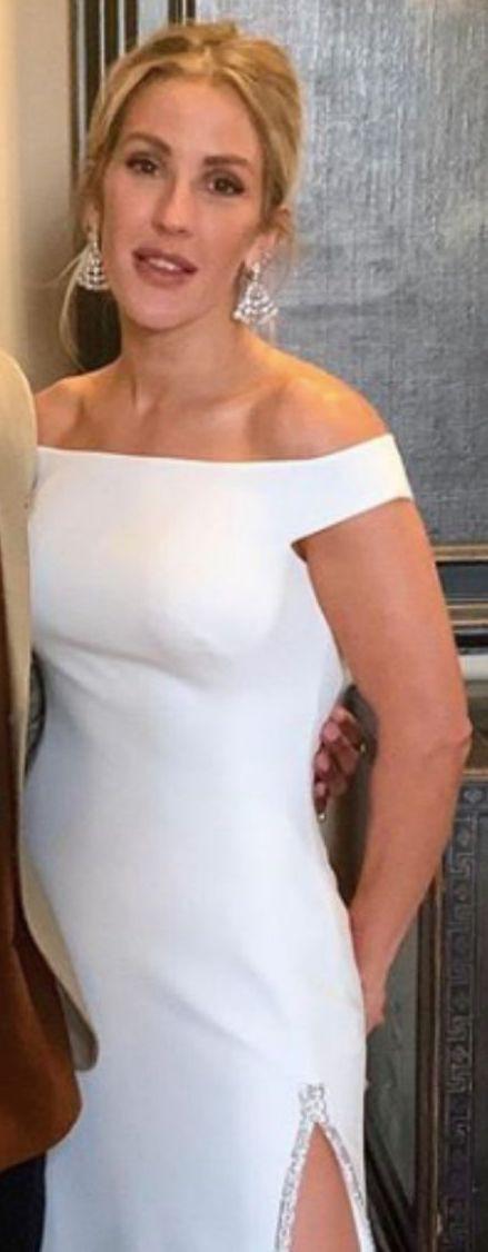 Stella McCartney Off-the-Shoulder Crystal-Trim Gown
