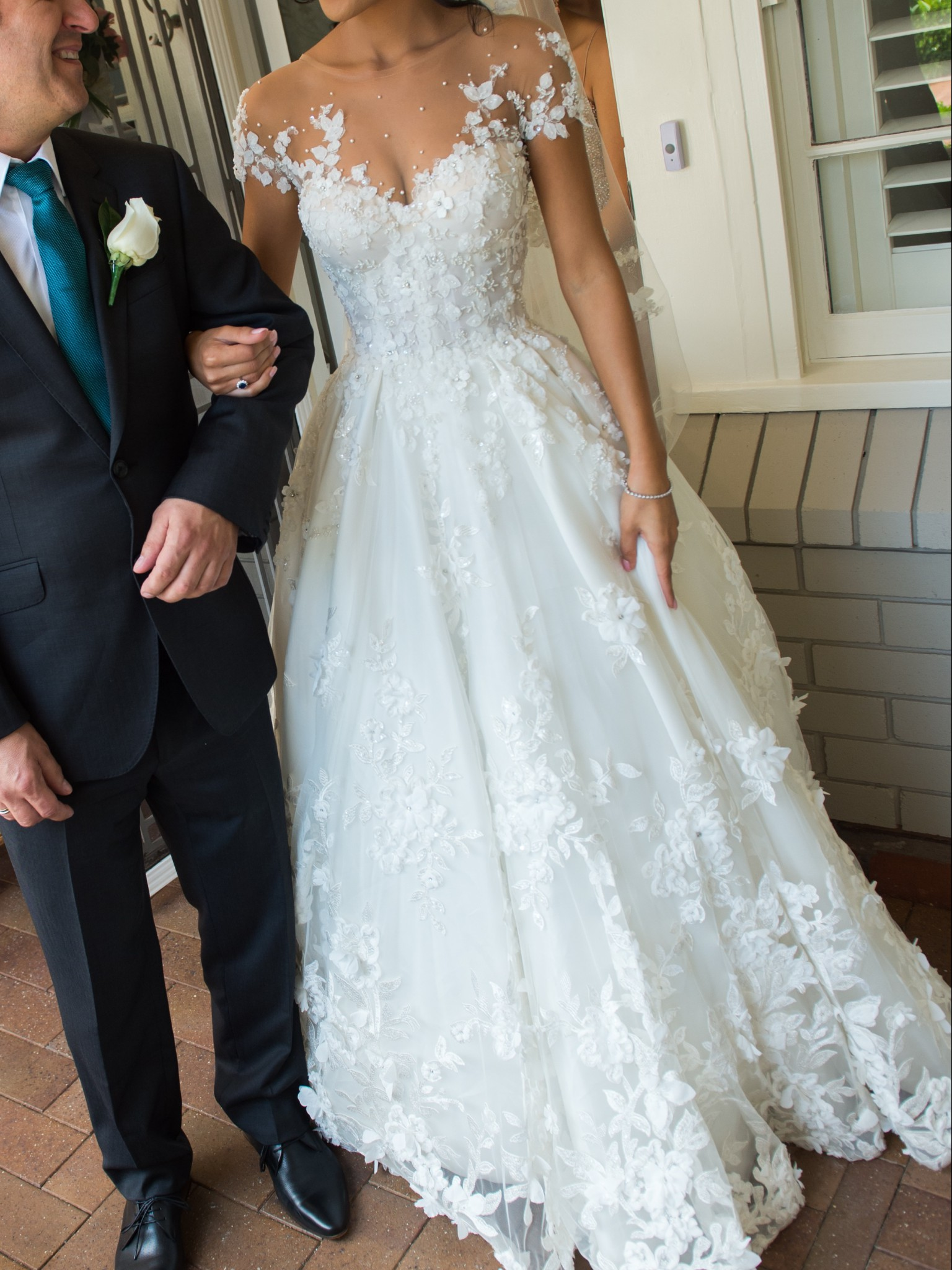e940ceb75c Steven Khalil Custom Made Second Hand Wedding Dress on Sale 45% Off ...