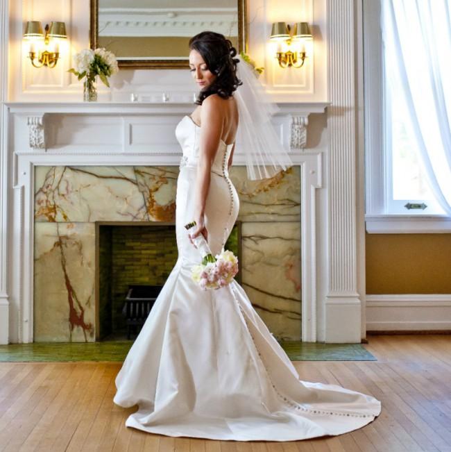 Justin Alexander, Regal Satin Mermaid Bridal Gown, Style 8659