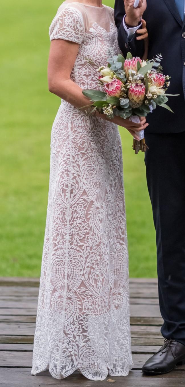 Carla Zampatti Pearl Lace Chateau De Versailles Gown Style No 51