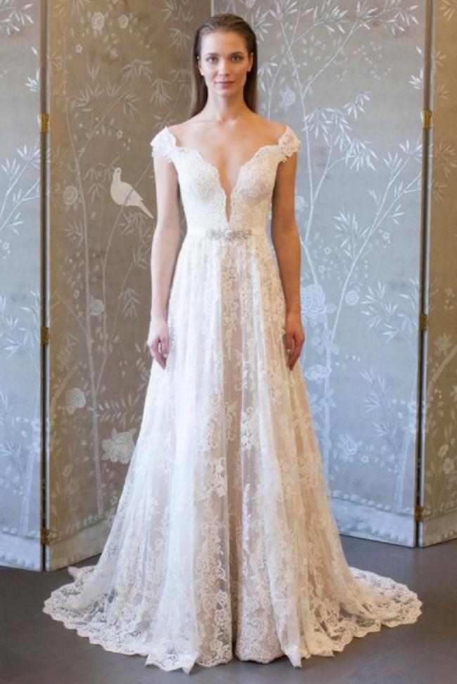 a9ae9b4f6c95 Legends Romona Keveza 8128 Sample Wedding Dress on Sale 38% Off ...