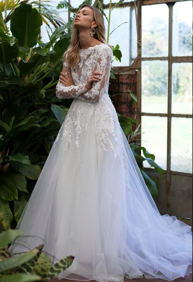 Mariana Hardwick, 'Audrey' Gown - Perennial Bloom Collection