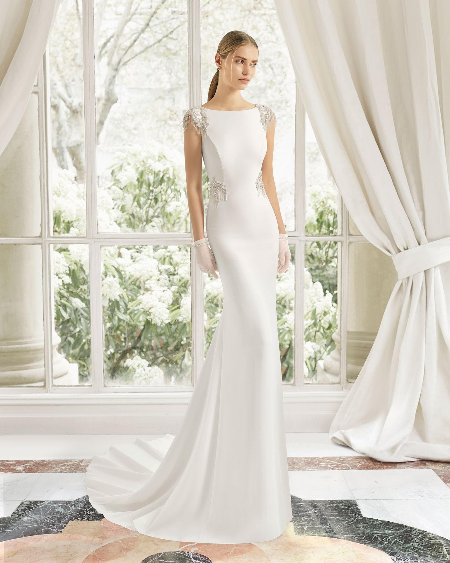 Rosa Clara Naipe Sample Wedding Dress On Sale 80% Off
