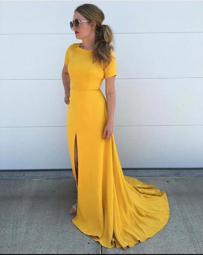 Sarah Seven Sullivan in Marigold