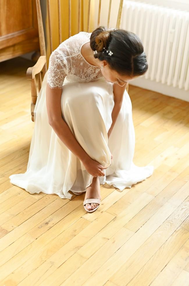 Catherine Deane Kameron gown and Dasha top