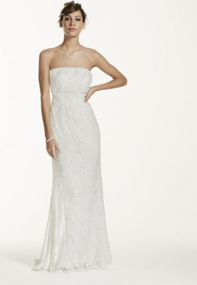 b97a02844c452 David's Bridal Galina S8551 Preloved Wedding Dress on Sale 76% Off ...