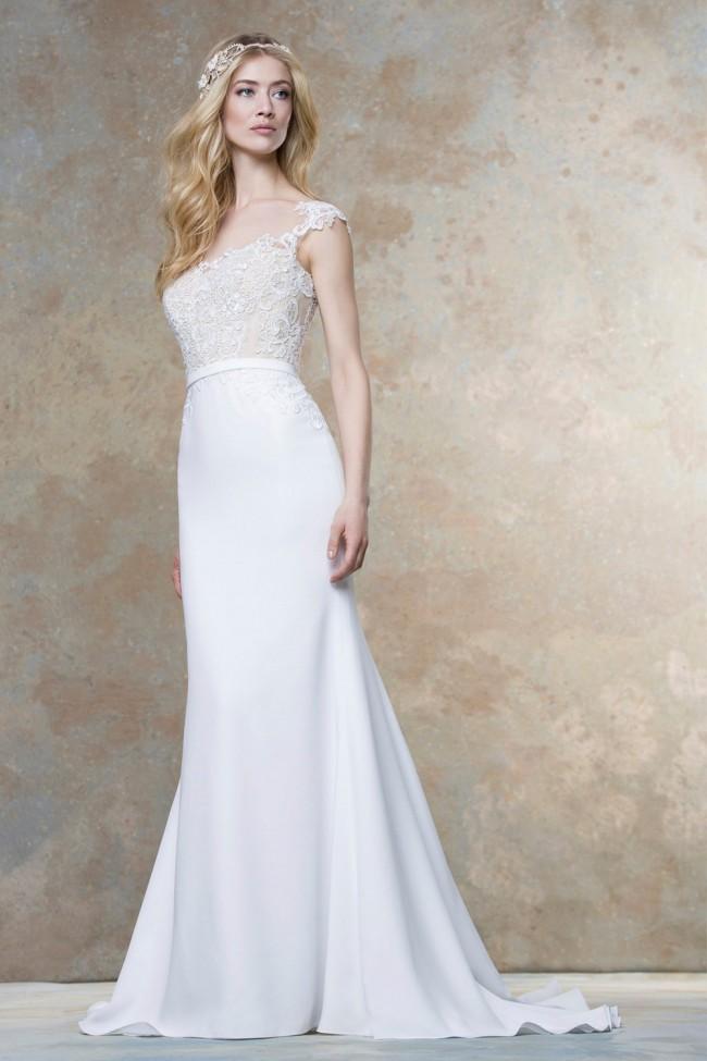 Ellis Bridal, Guipure Lace Slim Dress 19701