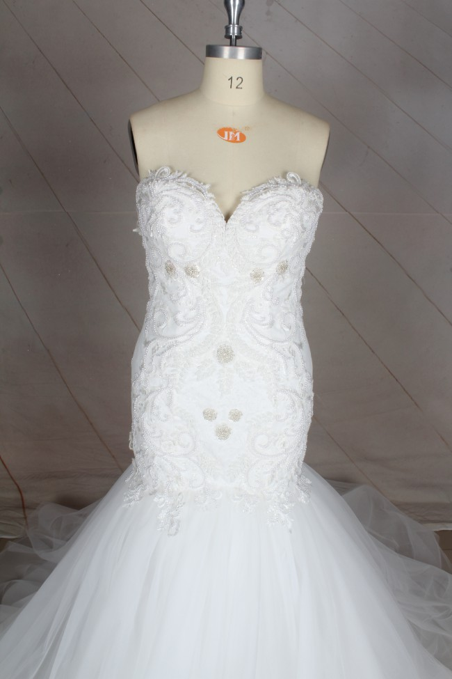 Fit & Flare Strapless Fit-and-Flare Wedding Dress