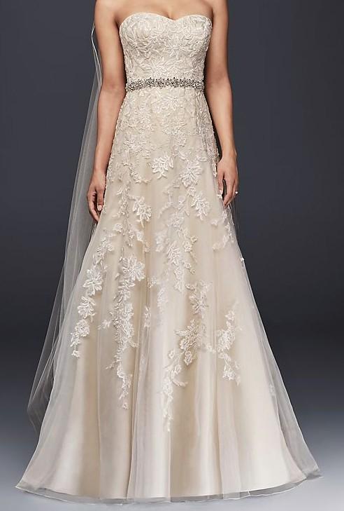 David's Bridal Collection v3587