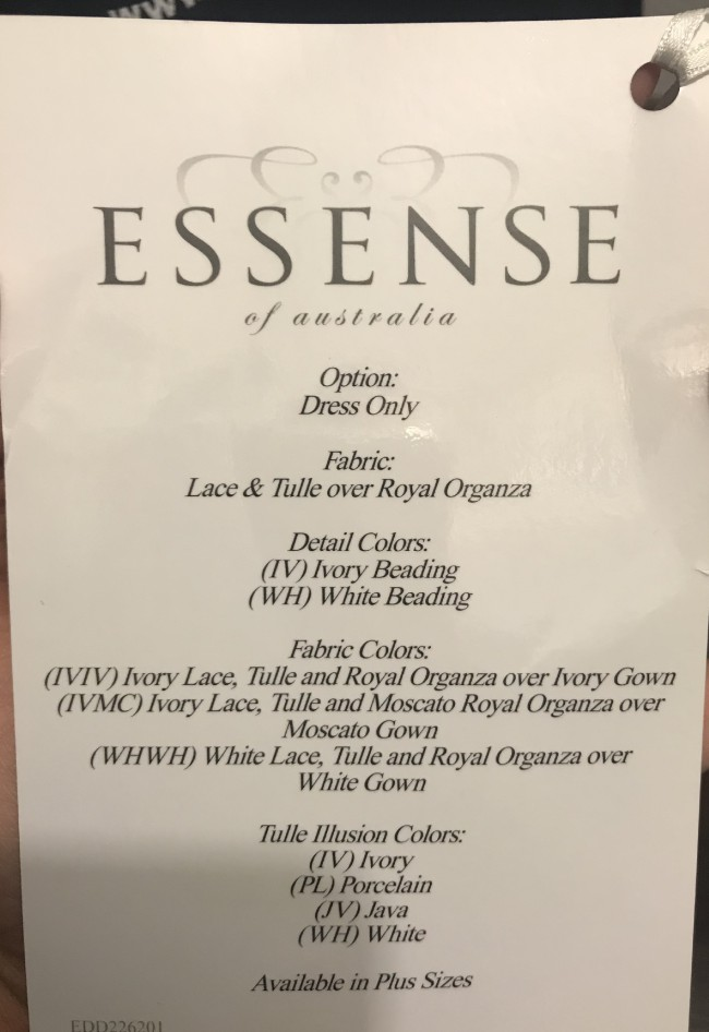 Essense of Australia, Fit & Flare