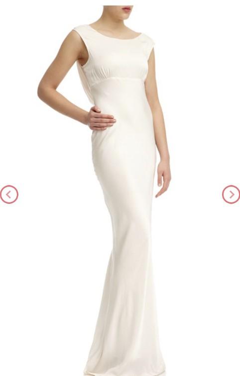 GHOST London Salma Dress Ivory Used