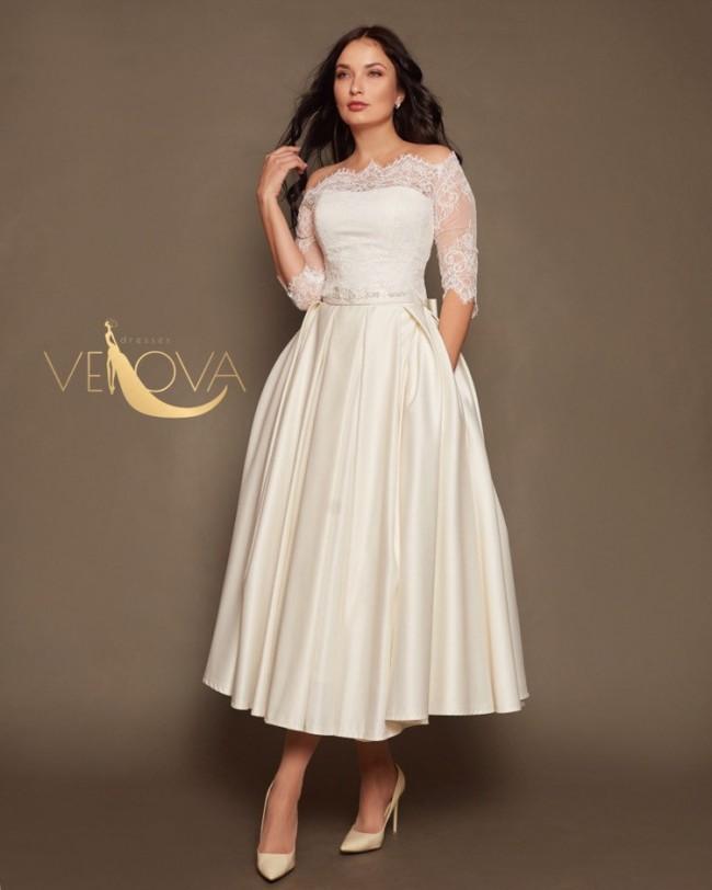 VehovaDresses Short Lace Tea Length Wedding Dress