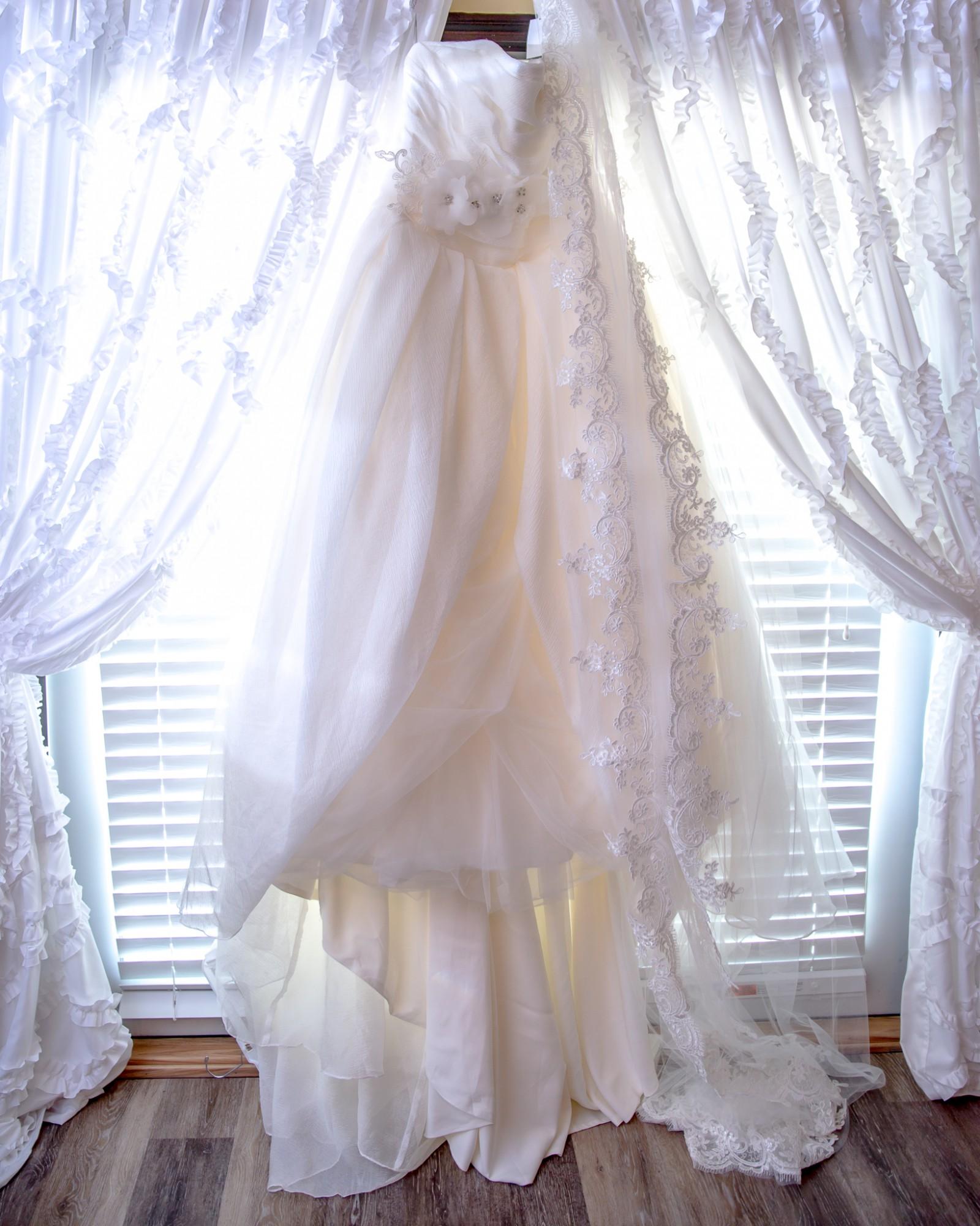 Vera Wang White By Vera Wang Plus Size Draped Wedding