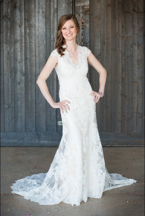 Allure Bridals 2455 with Custom Back