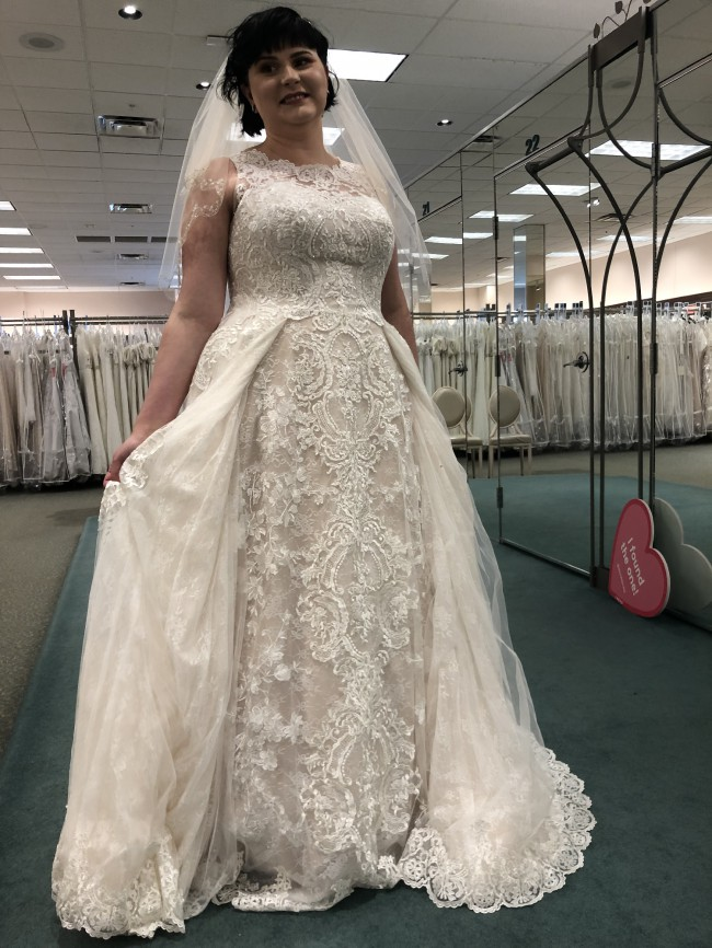 Oleg Cassini, David's Bridal Lace Plus Size Brand New Wedding Dr