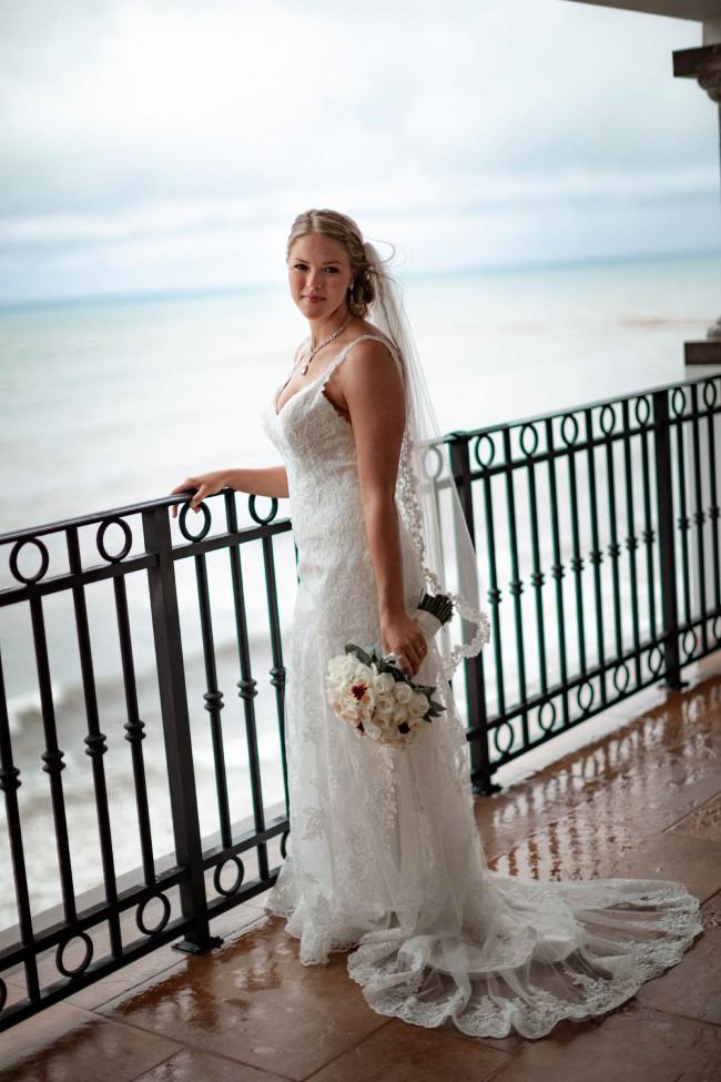 Stella York V Neck Wedding Dress with Open Back #5984
