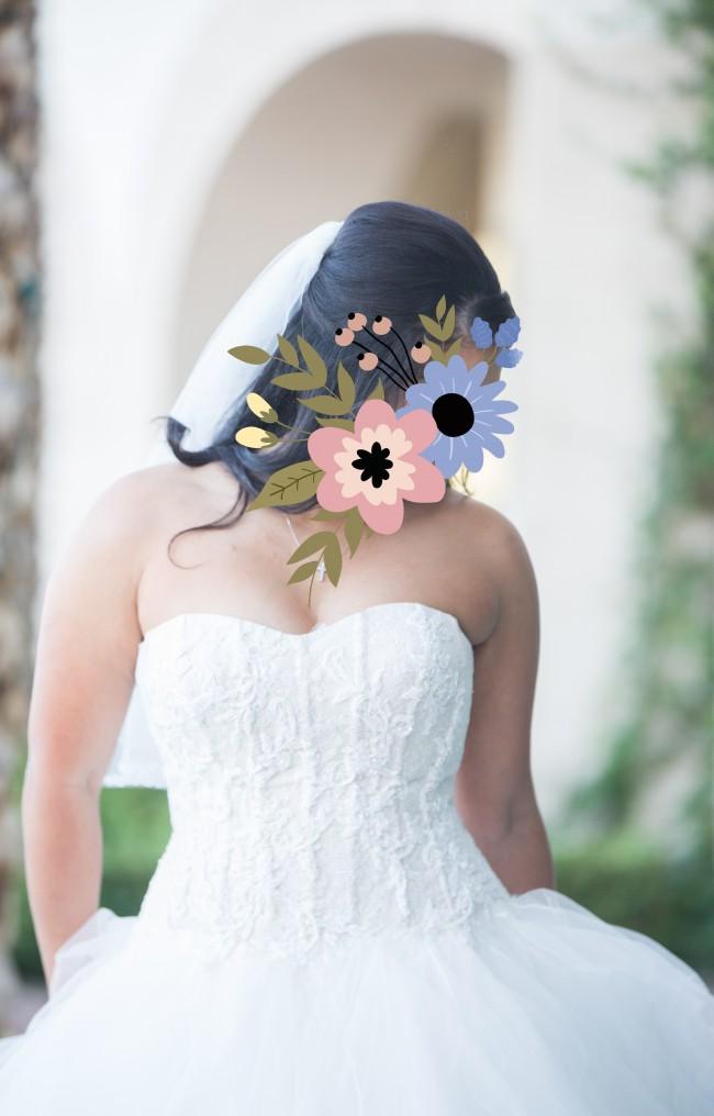 Oleg Cassini Oleg Cassini Strapless Ruffled Skirt Wedding Dress