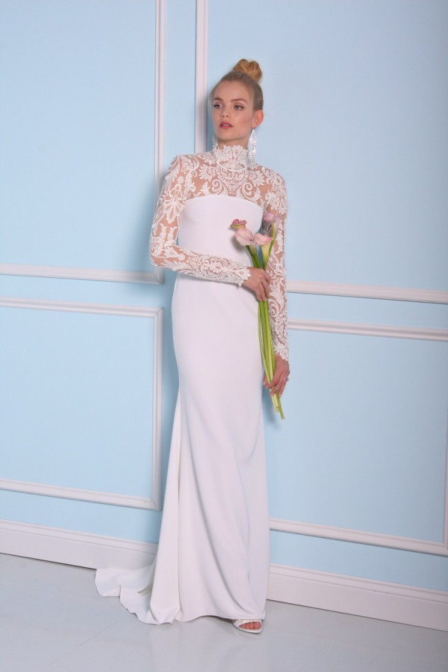 Christian Siriano Lace column gown