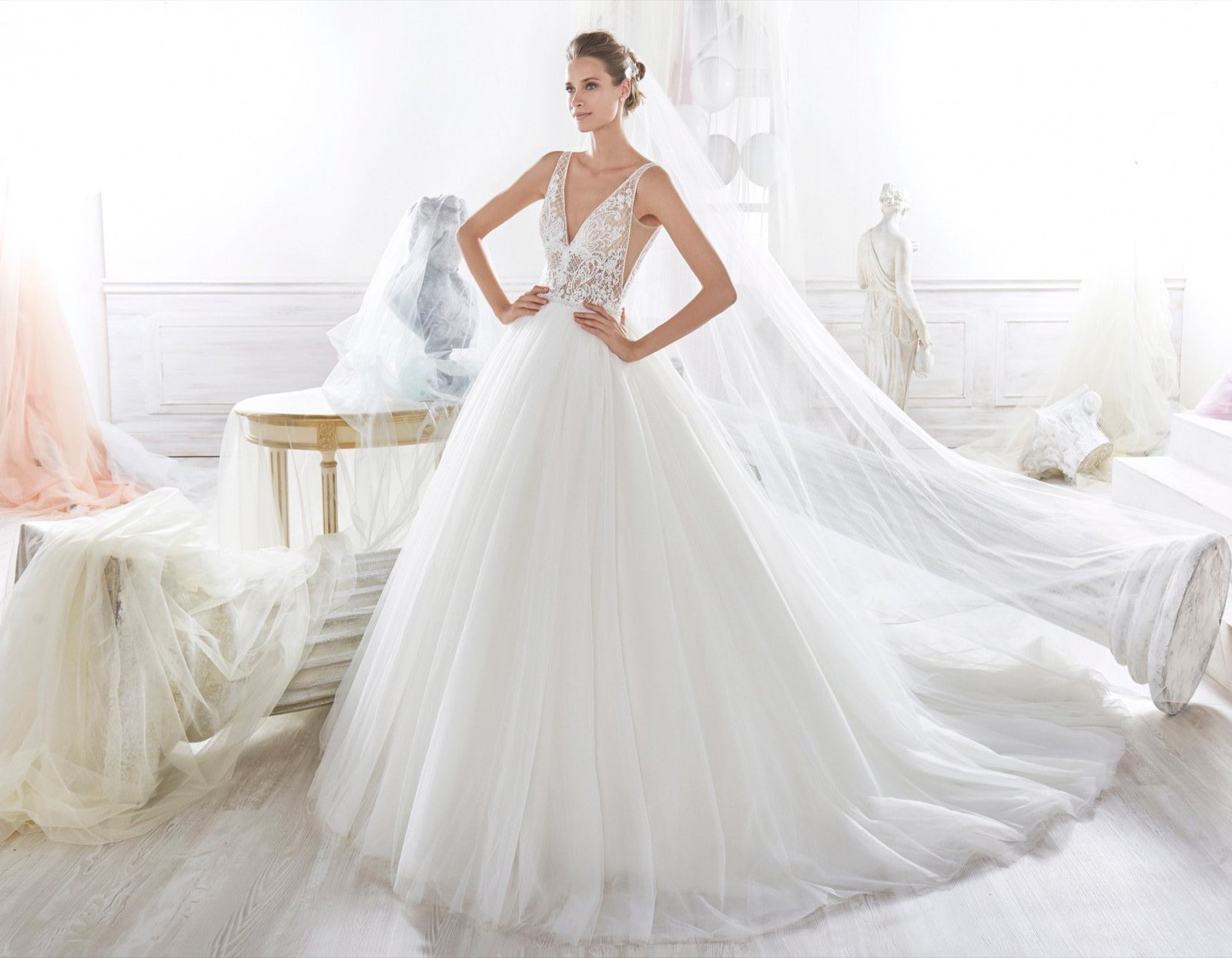 info for 241bf 1bfeb Nicole Spose Wallis NIAB18009 Wedding Dress On Sale - 60% Off