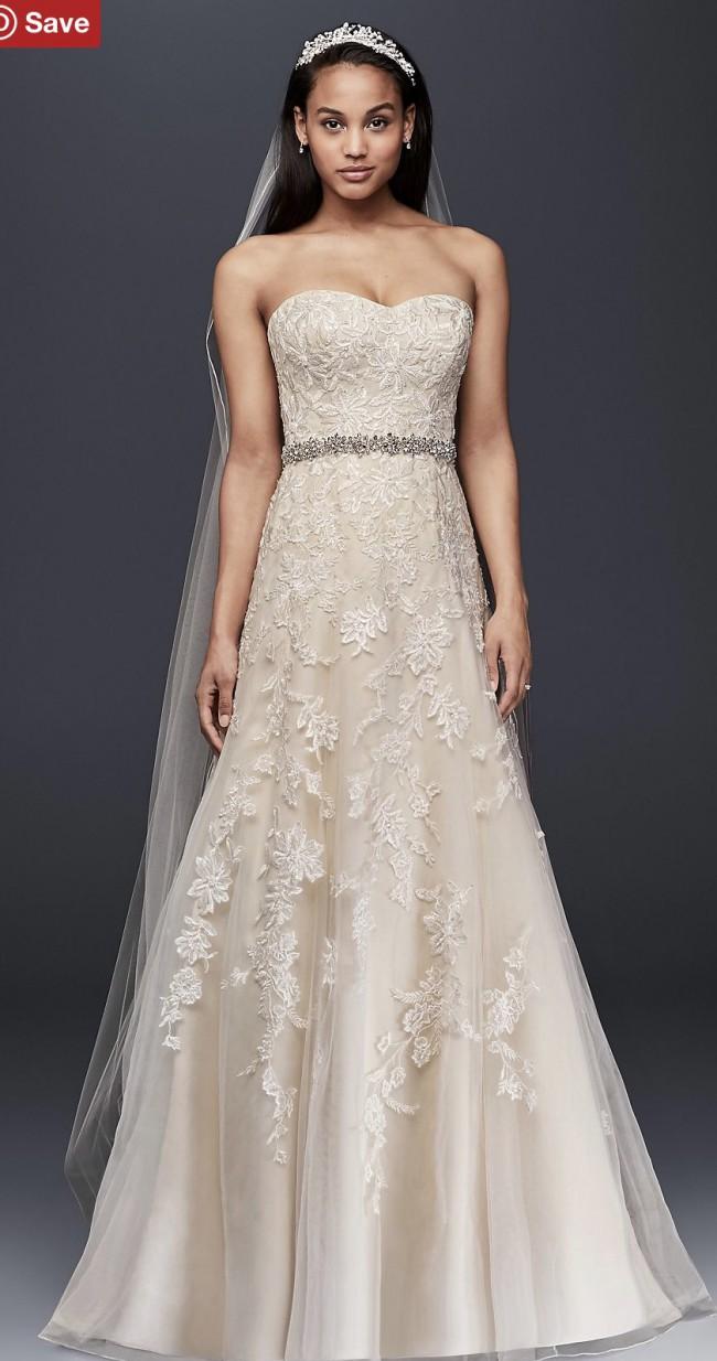 David's Bridal V3587