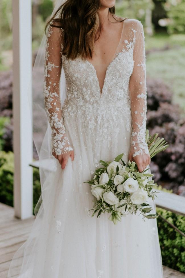 Reem Acra 'Secret Garden' dress | Long sleeve/sleeveless opt