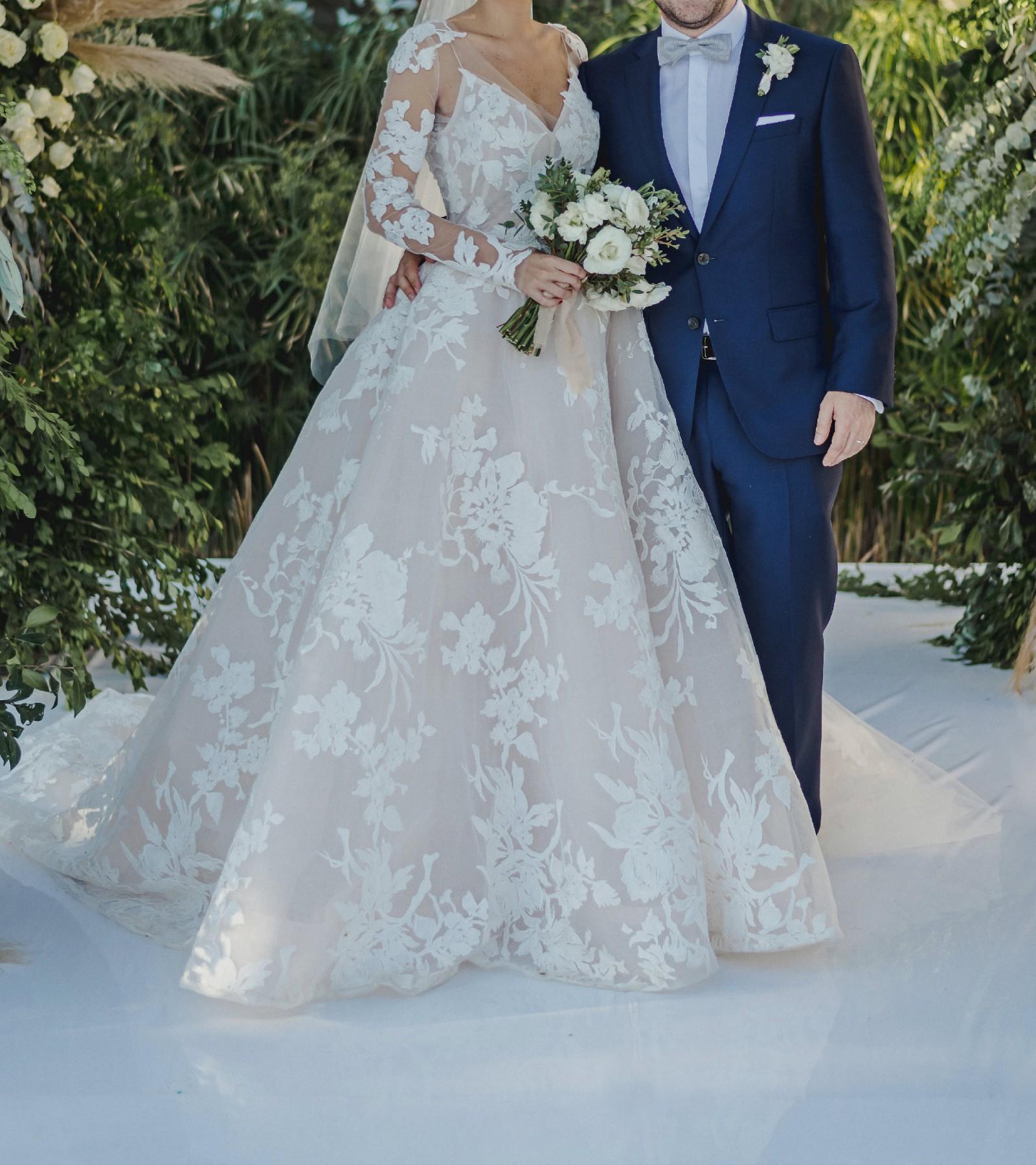 Monique Lhuillier Maeve Lace Dress Wedding On 48 Off