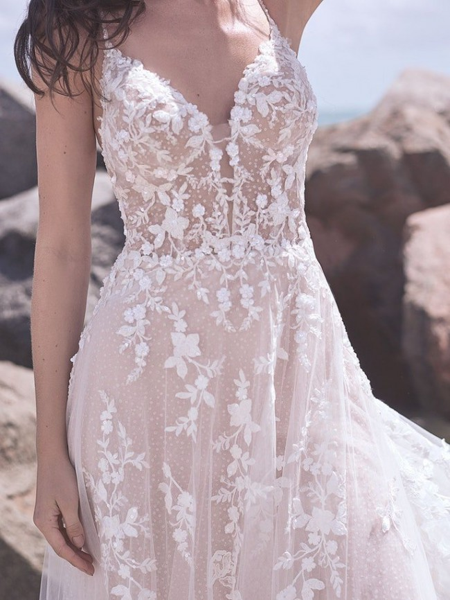 Sottero and Midgley 2021 Marlow, Ivory over Nude